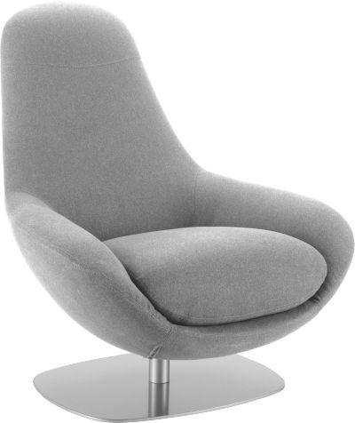 Cole fauteuil pivotant en tissu