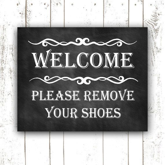 Please Remove Your Shoes Sign Printable  Shoes by GotPaperDesigns, $4.99