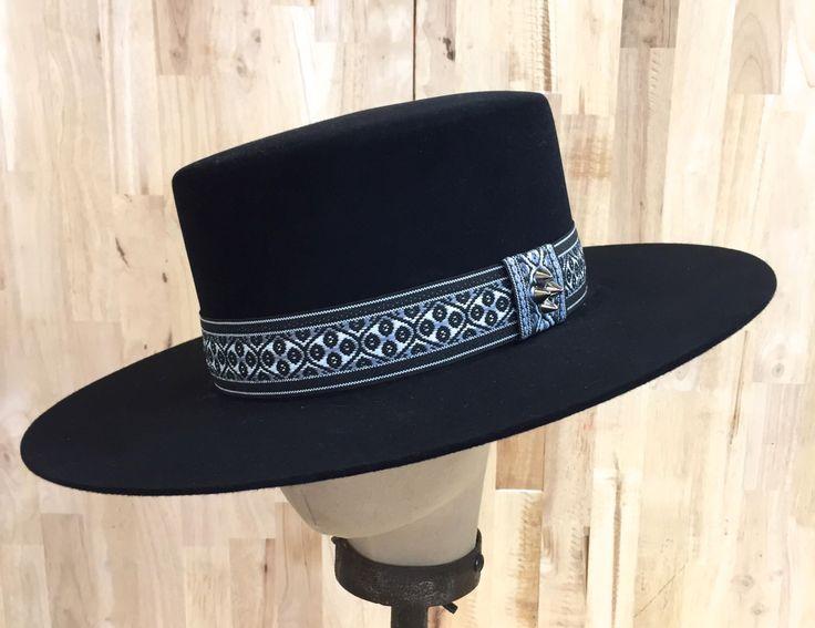 Black Beaver Blend Fur Felt Western Hat Bolero Style With