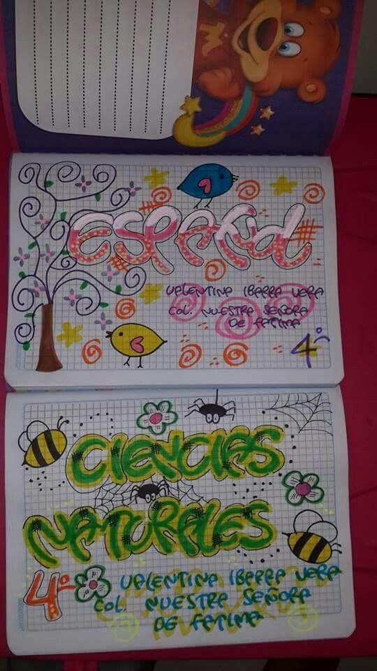 Ideas para marcar los cuadernos