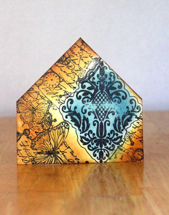 Bookmark Corner Damask. Cottage Chic. by MrsKristenCreations