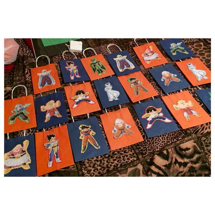 Dragon Ball Z goodie bags BY: Lyndsey