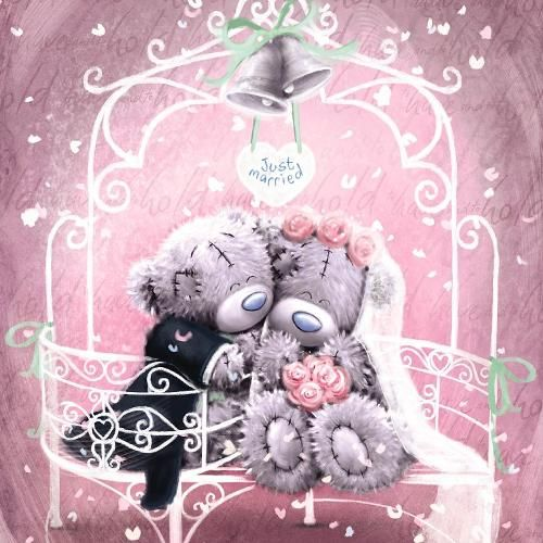Just Married Me to You Bear Wedding