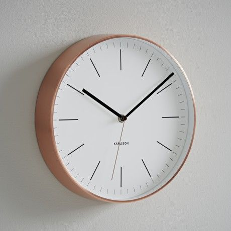 Trouva - Absolutely Stunning copper clock with a beautiful clear clock face. I really love the copper trend at the moment. #TrouvaHandpinnedHomewares
