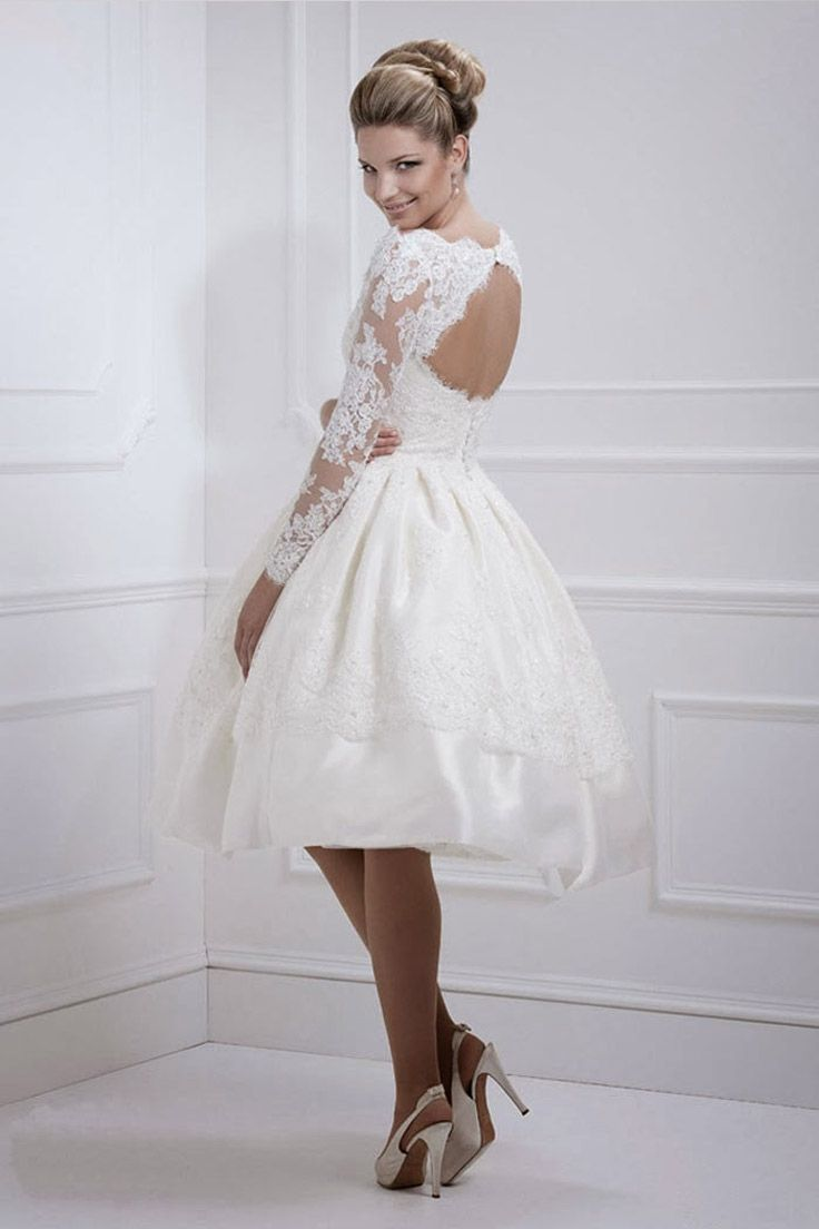 b561af49bc5c3d4 Винтажные свадебные платья короткие - Модадром