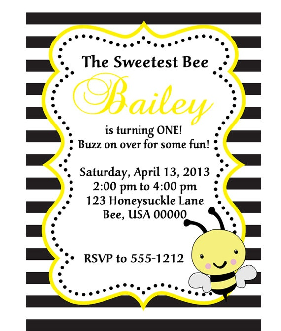 DIY Printable Modern Bumble Bee Party by PinkMonkeyPartyPrint, $10.00
