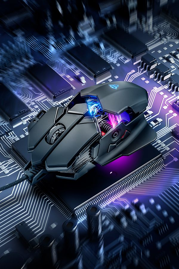 Gaming Mouse With X Ray Design 4000 Dpi Sensor And Rgb Led Illumination Gaming Mouse Cheapest Gaming Pc Video Game Room Design