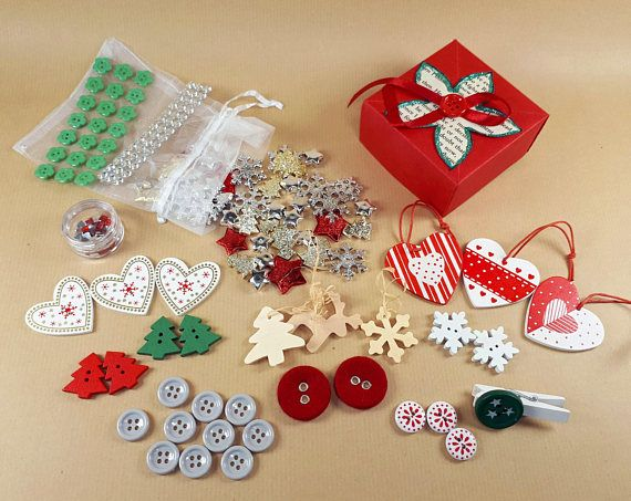 Christmas crafting kit Christmas wrapping supplies Christmas
