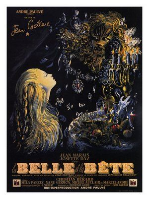 ... movie poster la bête la belle film poster the beast jeans cocteau