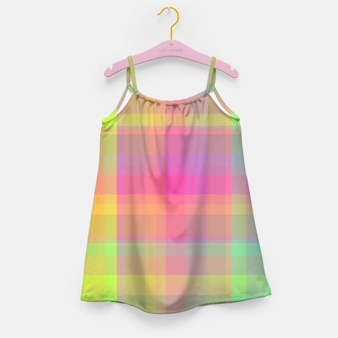 Bright Check Girl's Dress