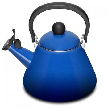 "Le Creuset ""Cobalt Blue"" Kone Stove-top Kettle with Whistle - Teddingtons"