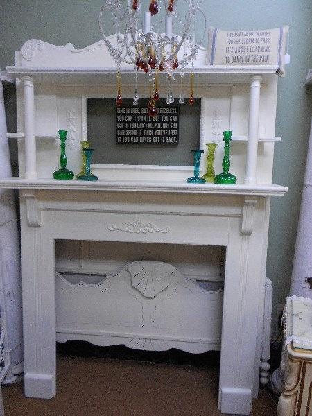 Shabby Chic  Fireplace Mantle by nottooshabbynj on Etsy, $675.00