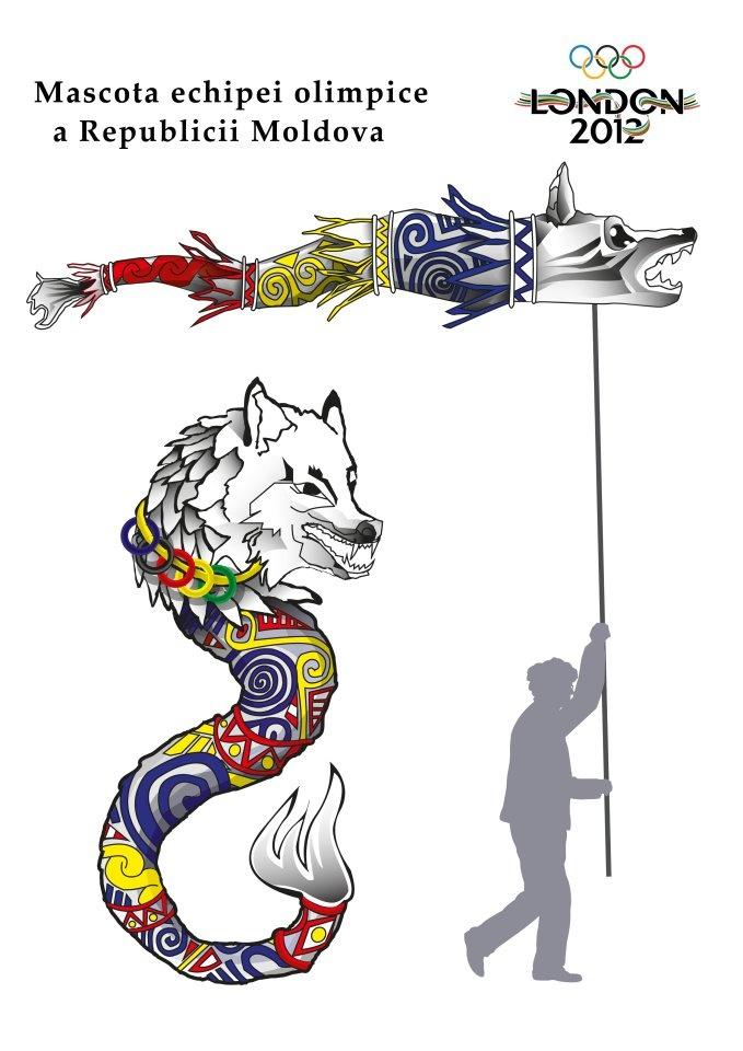 Mascota Republicii Moldovala la Jocurile Olimpice de la Londra din 2012.