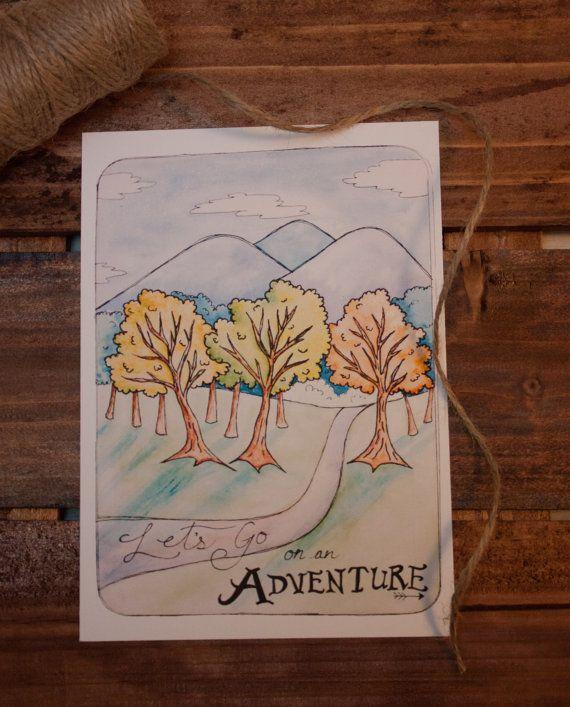 Lets Go on an Adventure Art Print 5x7