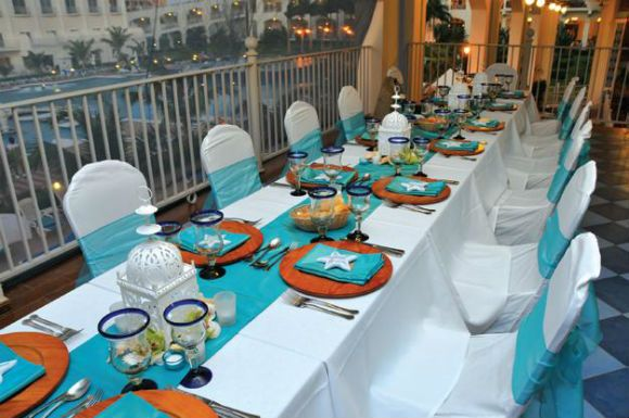 38 best jamaican themed party images on pinterest floral for Teal wedding theme ideas