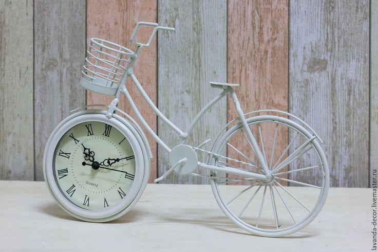 Купить Часы настольные подарочные Велосипед - Белый - белый, часы, часы настольные, часы купить