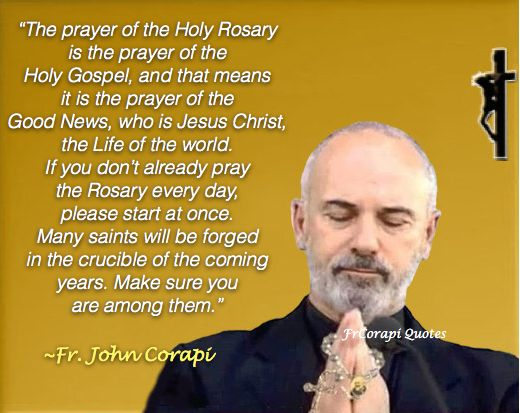 Be a Saint - Pray the Rosary - wow!