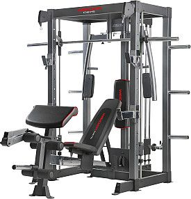 weider 875 commercial smith rack  bench with images