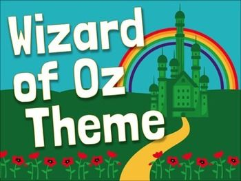 WIZARD OF OZ - Wizard of Oz theme decor pack includes everything you need to turn your classroom into the Land of Oz. Just print and hang. Includes 155 pages of signs, posters, banners, labels, calendar cards, and more!Large Round WELCOME LettersWELCOME BuntingWhere Are We?