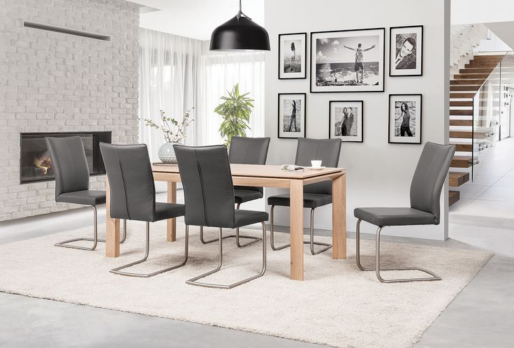 T28 wooden table fits both - modern and more rustic style. #KloseFurniture #woodenfurniture #modernchair #woodentable