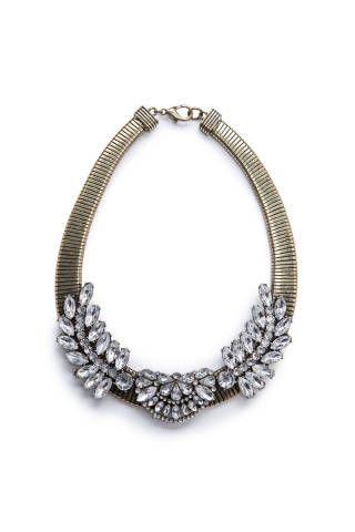 Crystal Cluster Necklace, $59.99;