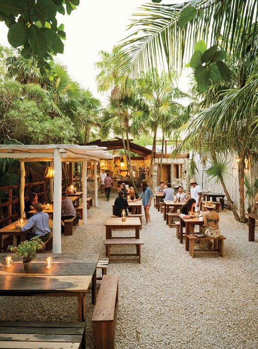 hartwood restaurant - tulum, mexico. I hope to go to a restaurant like like one day