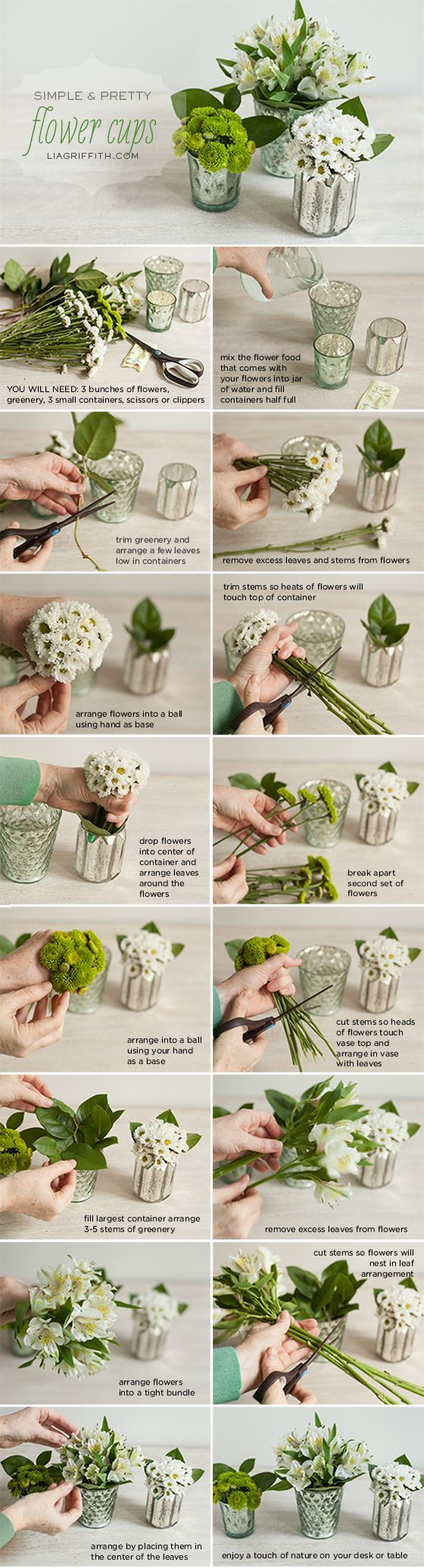 Mini Flower Cup Tutorial http://liagriffith.com/add-a-little-bit-of-spring-to-your-office-desk/