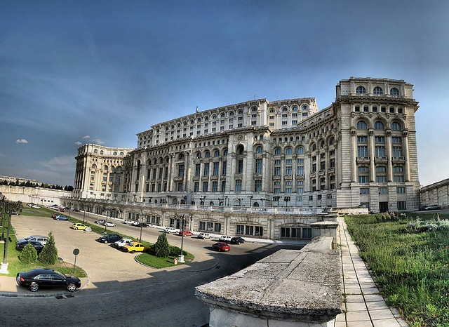 The Parliament building in Bucharest - 2-nd largest building in the World after Pentagon