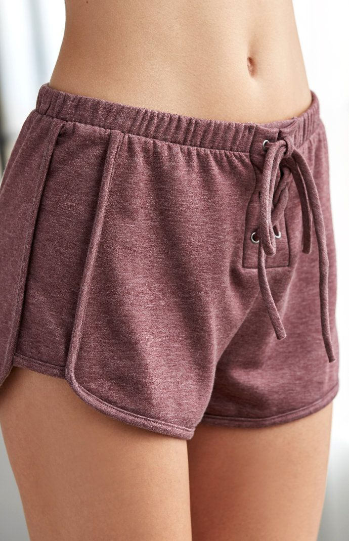 Fleece Lace-Up Jogger Shorts