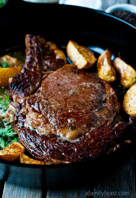 How to cook the Perfect Pan-Seared Steak! It's easy to make delicious, perfectly cooked steak at home!
