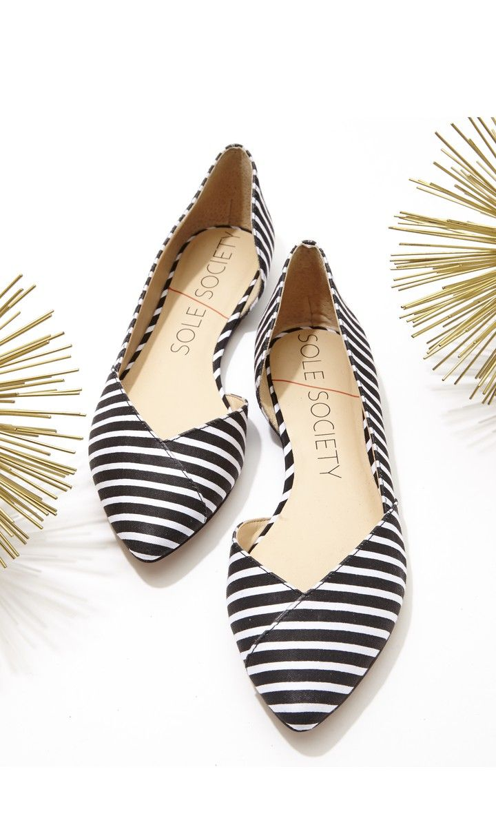 Style this striped pair with a flared mini dress for a sweet and charming look. Cute Flats
