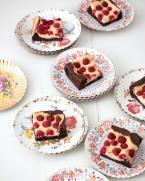 Rezept: Himbeer-Frischkäse-Brownies