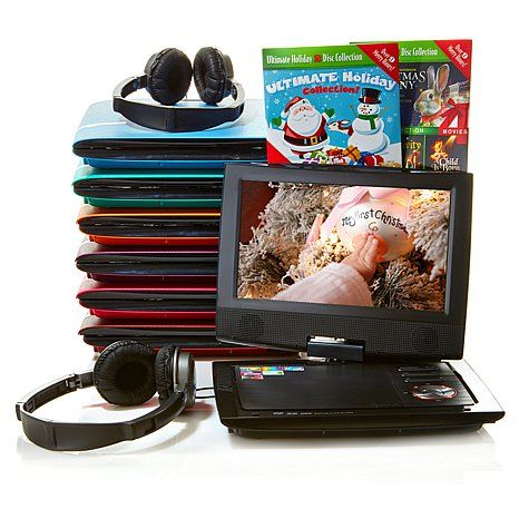 """2 of these please...  Audiovox 9"""" Portable DVD Player with Headrest Case"""