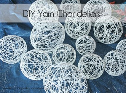 yarn lanterns - messy to make (read: fun!) and, with a flashlight or fake candle should be great for the Torchlight parade