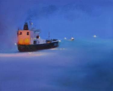 "Saatchi Art Artist Marta Zamarska; Painting, ""Winter Impression 29"" #art"