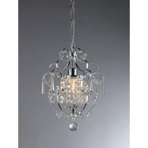 warehouse of tiffany veronica 1light silver crystal indoor hanging chandelier - Chandelier Home Depot