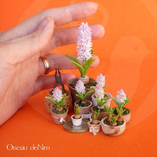 Garden Hyacinth: 12th scale by Oiseau deNim, via Flickr (miniature)