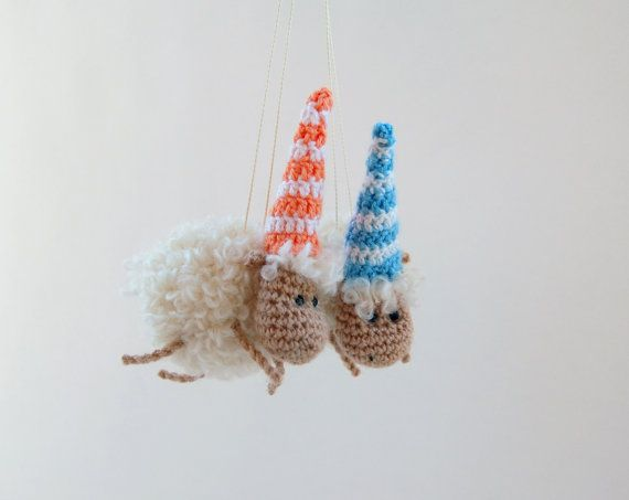 Crochet toy Lamb sheep stuffed animal Crochet toy New by RomeoShop