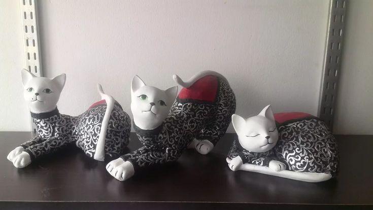 juego de gatos por 3 unidades