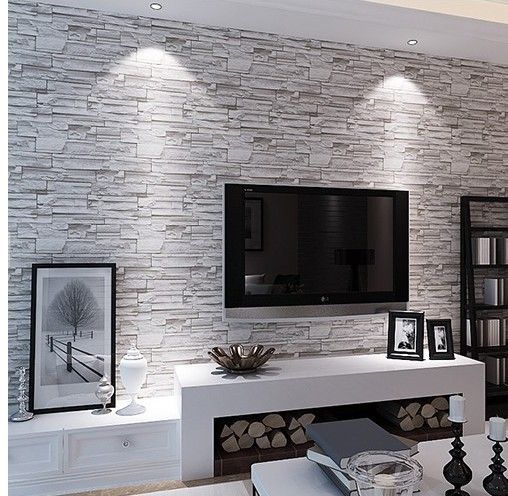 Principales 25 ideas incre bles sobre decoraciones de sala Black and white living room wallpaper