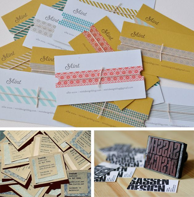 13 best handmade business cards images on pinterest business cards handmade business cards reheart Images