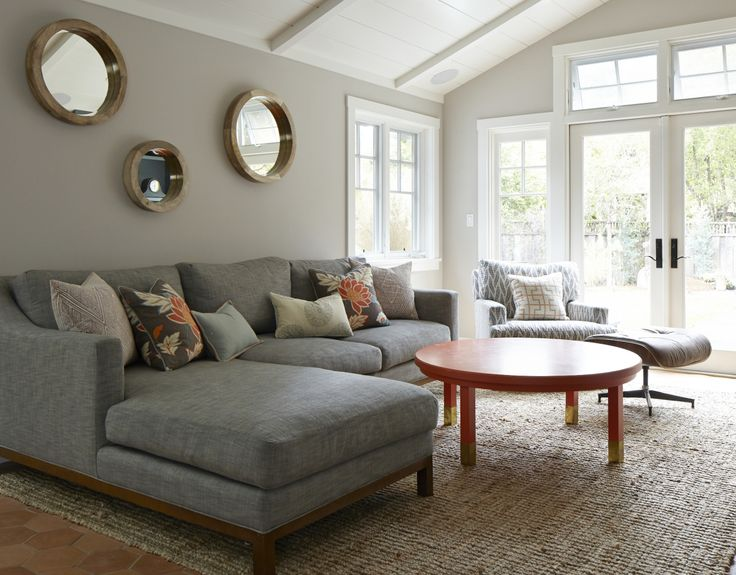 A lovely neutral room: http://www.stylemepretty.com/living/2015/10/09/california-bungalow-home-tour/ | Design: Cecy J - http://cecyj.com/
