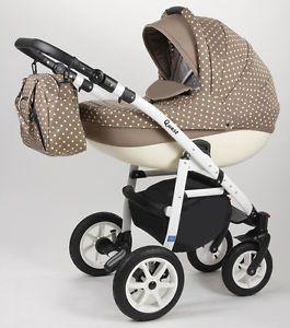 Kombi-Kinderwagen-ALU-QUEST-3in1-Babyschale-Autositz-Babywanne-Sportsitz-NEU