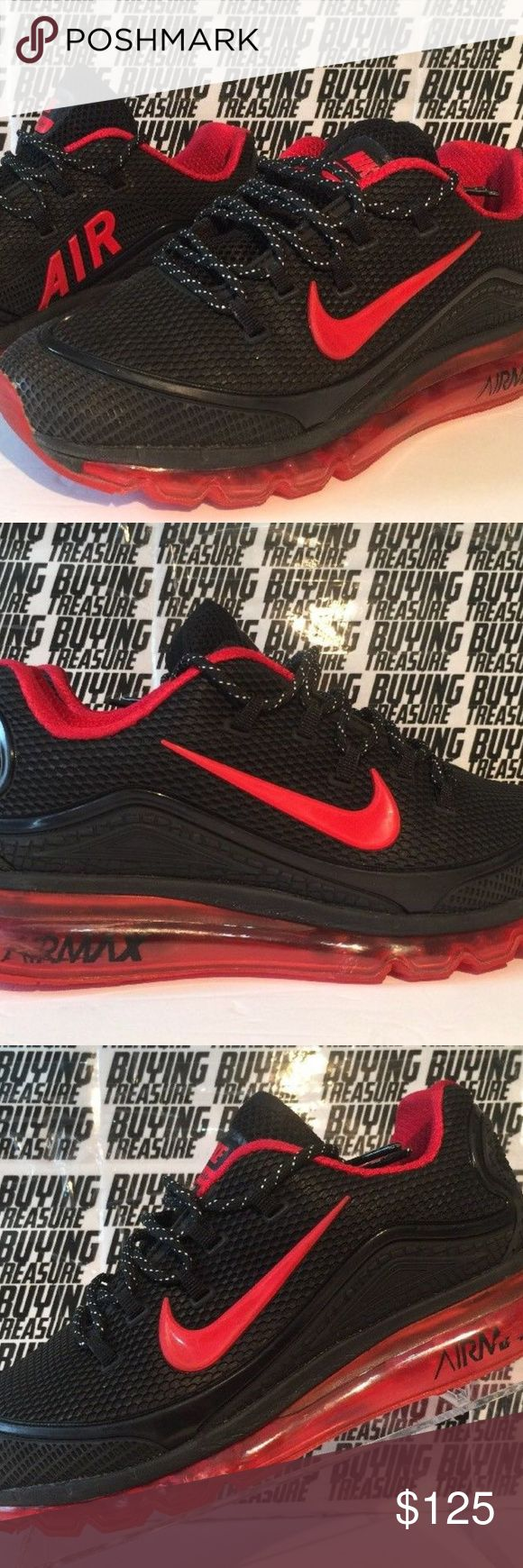 AIR MAX 2018 ELITE Men's Running Trainers Sz 7 NIKE AIR MAX 2018 ELITE Men's Running Trainers Shoes Black, Red  Sz 7 Used. See pictures, ask questions Nike Shoes Athletic Shoes