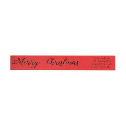 Merry Christmas Snowflake wraparound label - Xmas ChristmasEve Christmas Eve Christmas merry xmas family kids gifts holidays Santa