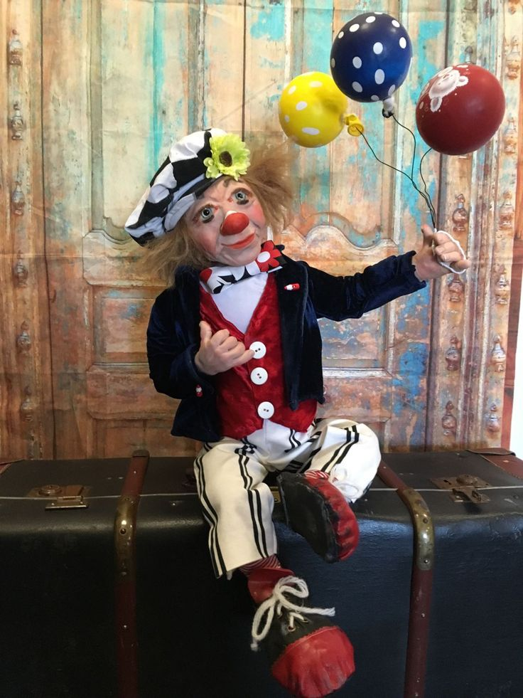 Купить Куда уехал Цирк ... - авторская ручная работа, авторская кукла, клоун, клоуны, цирк