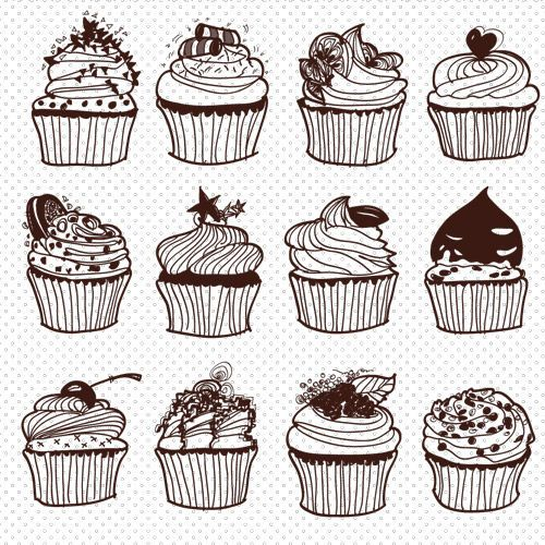 Cupcake Vector Art : 25+ best ideas about Cupcake vector on Pinterest Cupcake ...