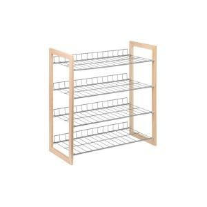 Honey-Can-Do, 18-Pair 4-Tier Wood and Metal Accessory Rack, SHO-01384 at The Home Depot - Mobile
