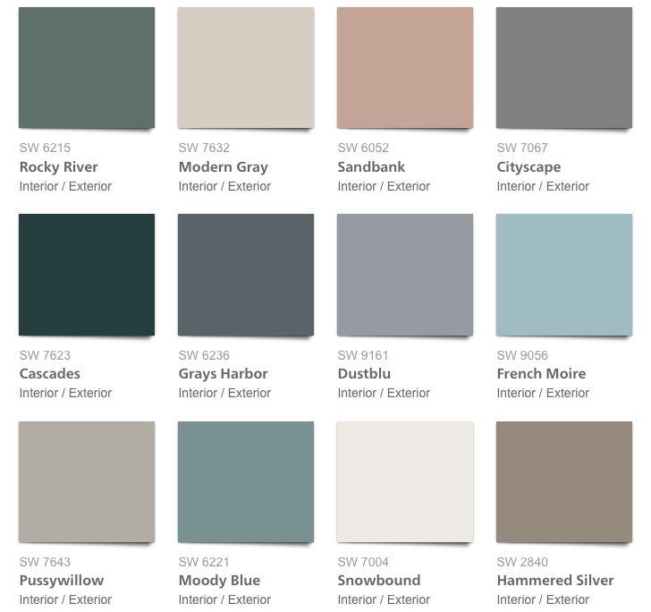 Brilliant Interior Paint Color Schemes: West Elm 2017 Fall Winter Paint Collection