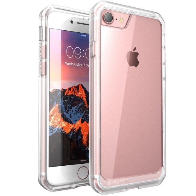 Supcase For Iphone 7/7 Plus Unicorn Beetle Hybrid Protective Bumper Case Clear